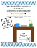 Open-Ended Math Questions Grades 2-3, Problem Solving, Add
