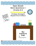 Open-Ended Math Questions Grades 4-5 Elapsed Time & Proble