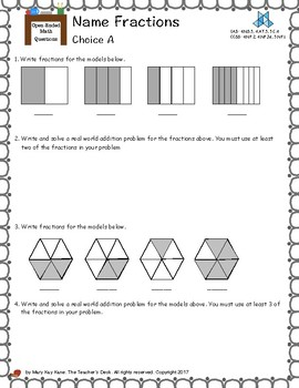 Open-Ended Math Questions, Grades 4-5: Fractions