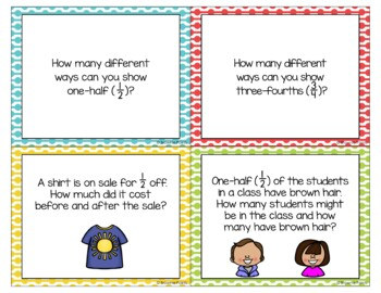Open-Ended Math Questions - Fractions