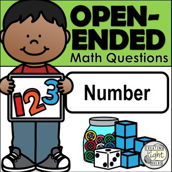 Open-Ended Math Questions - Number with Student Response Sheet