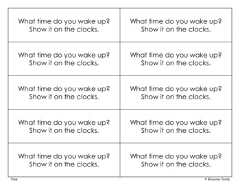 Open-Ended Math Questions - Time
