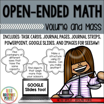Open-Ended Math Questions - Volume and Mass