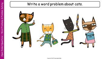 Open-Ended Math Questions - Word Problems and Problem Solving Worksheet Included