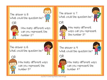 Open Ended Math Questions-Operations and Algebraic Thinking-First Grade