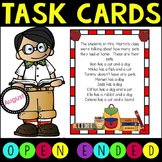 Open Ended Math Task Cards for Higher Level Thinking - Back to School