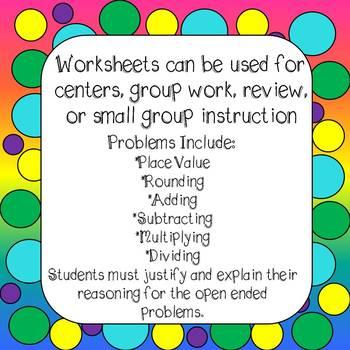 Math Word Problems Worksheets Grade 4