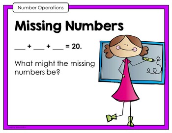 Open Ended Mathematics: Addition and Subtraction Task Cards Sample