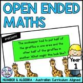 Open Ended Maths Questions - Year 1 {Australian Curriculum Maths}
