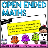 Open Ended Maths Questions - Year 1 {NSW Curriculum}