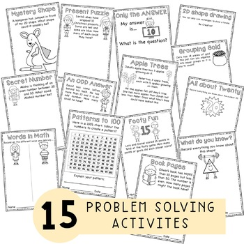 word problems problem solving activities kindergarten grade 1 grade 2. Black Bedroom Furniture Sets. Home Design Ideas