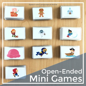 Open-Ended Mini Games for Speech and Language