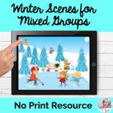 Open-Ended NO PRINT Winter Scenes for Mixed Group Therapy NO PREP