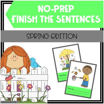 Open-Ended, No Print, Spring-Themed Finish The Sentences Activity