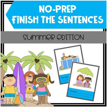 Open-Ended, No Print, Summer-Themed Finish The Sentences Activity