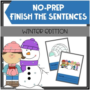 Open-Ended, No Print, Winter-Themed Finish The Sentences Activity
