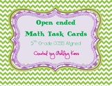 Open Ended Problem Solving Math Task Cards-5th Grade Common Core SS Aligned