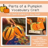 Open Ended Pumpkin Vocabulary Craft