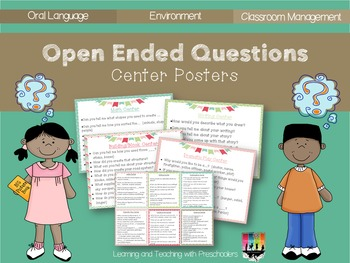 Open Ended Questions Center Posters