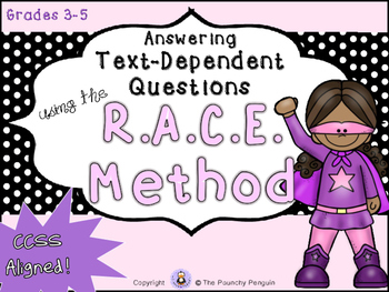 Text-Dependent Questions - RACE Method