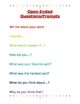 Open Ended Questions/Prompts