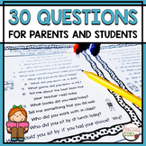 Open Ended Questions for Parents to Ask Their Students {FREEBIE}