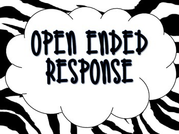 Zebra Open Ended Response Bulletin Board Set