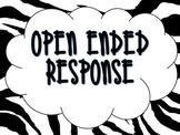 Zebra Open Ended Response Bulletin Board Set