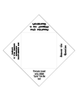 Open Ended Response Foldable