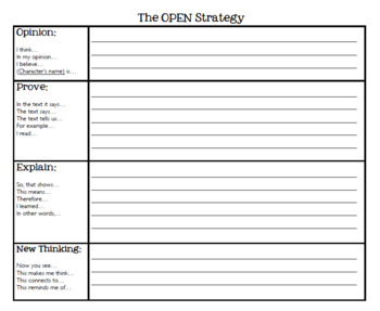 Open-Ended Response Graphic Organizer and Interactive Notebook Foldable