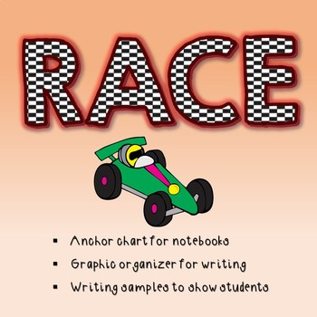 Open Ended Response RACE poster and teacher example