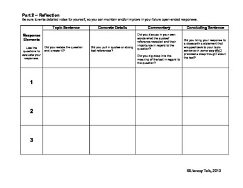 Open-Ended Response Self-Evaluation