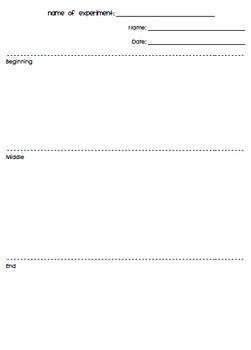 Open-Ended Science Experiment Worksheet