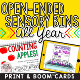 Monthly Themed Sensory Bin Activities - ALL YEAR! DIGITAL