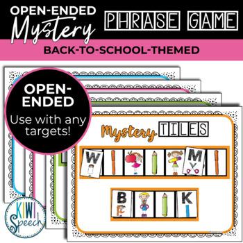 Open Ended Seasonal Tile Game: Back to School Theme