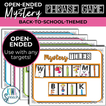 Open Ended Mystery Phrase Game for Speech Therapy {Back to School}