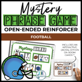 Open Ended Mystery Phrase Game for Speech Therapy {Football}