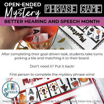 Open Ended Speech and Language Tile Game {Better Hearing and Speech Month}