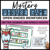 Open Ended Mystery Phrase Game {Better Hearing and Speech Month}