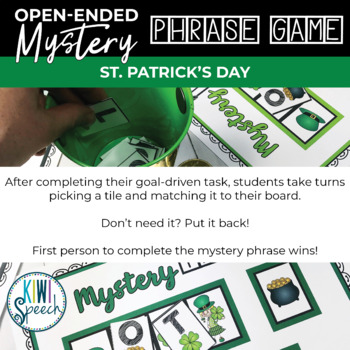 Open Ended Speech and Language Tile Game {St. Patrick's Day}