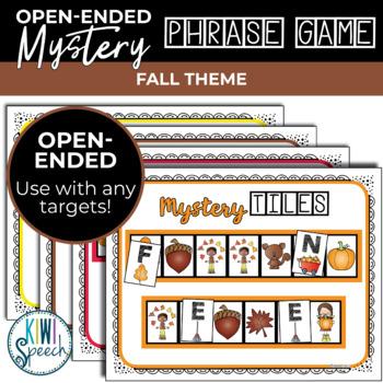 Open Ended Seasonal Tile Game: Fall / Autumn Theme