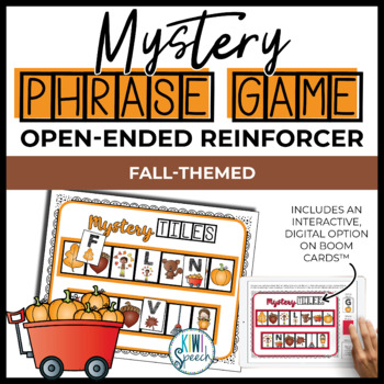 Open Ended Speech and Language Tile Game {Fall / Autumn}