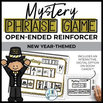 Open Ended Speech and Language Tile Game {New Year}