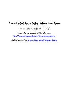 Open-Ended Spider Web Articulation Game