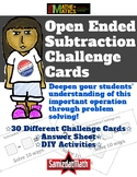 Open Ended Subtraction Challenge Cards