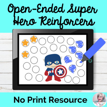 Open-Ended Teletherapy Reinforcers NO PRINT Superhero Edition