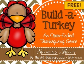 Open-Ended Thanksgiving Build-a-Turkey Game