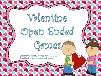 Open Ended Valentine Games for Speech Therapy