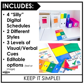Open Ended Visual Schedule- Easy Speech Therapy Set Up