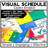Open Ended Visual Schedule- Easy Speech Therapy Set Up - D